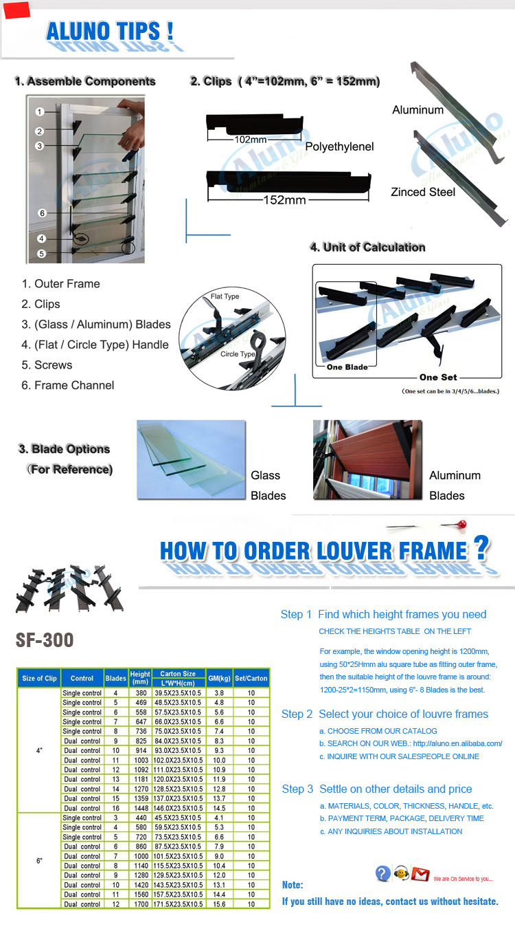 Maximum Ventilation Glass Sash Holding Frame Louvres