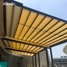 Waterproof Pergola Shade Gazebo Electric Awning With Zipper Screens